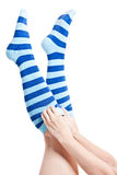Stripes socks legs Stock Images