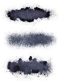Stripes of spilt paint. Isolated on the white background - raster illustration vector illustration