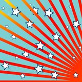 Stripes and stars background. Abstract composition; vector art illustration Royalty Free Stock Photos