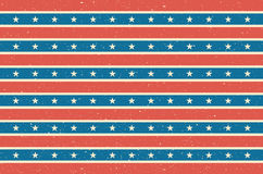 Stripes and stars background. USA flag design. Vector illustration. Stock Images
