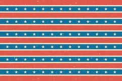 Stripes and stars background. USA flag design. Vector illustration. Stock Images