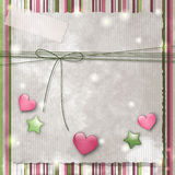 Stripes, stars and hearts Royalty Free Stock Images