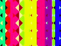 Stripes and triangles. Colourful abstract vertical stripes and bars with triangles Royalty Free Stock Photo