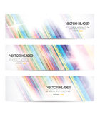 Stripes vector header Royalty Free Stock Photo