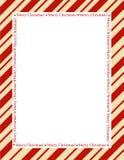 Stripes Weihnachtsfeld Lizenzfreies Stockbild