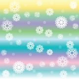 Stripes and white snow flakes Royalty Free Stock Photo