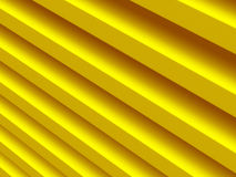 Stripes. Yellow abstract pattern for. Web template background, brochure cover or app. Material style. Geometric 3D illustration Royalty Free Stock Photography