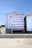 stripey хаты пляжа Стоковая Фотография RF