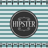 Stripey card hipster style Royalty Free Stock Photos