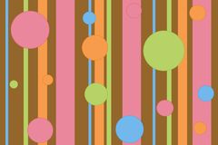 Stripey polka dot background Royalty Free Stock Photo