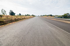 Striping road ahead Royalty Free Stock Photography
