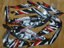 Striping Sticker Design Concept Racing, Race Design Concept, Samurai Design Stock Photography