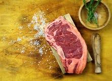 Fresh Striploin steak a beef dry-aged