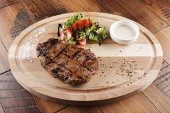 Striploin wołowiny stek Fotografia Royalty Free