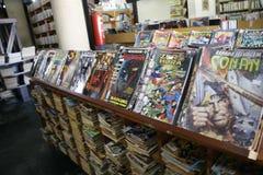 Strippaginabibliotheek Royalty-vrije Stock Afbeelding