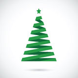 Stripped abstract christmas tree. Green stripped abstract christmas tree Royalty Free Stock Photography