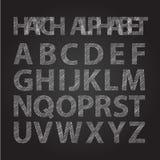 Stripped alphabet chalkboard Stock Photos