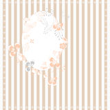 Stripped background with floral frame Royalty Free Stock Photos