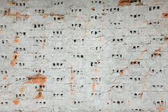 Stripped brick wall Royalty Free Stock Images