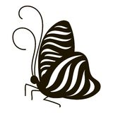 Stripped butterfly icon, simple style Stock Image