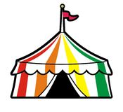 Stripped Circus tent Royalty Free Stock Images
