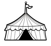 Stripped Circus Tent Stock Image
