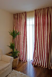 Stripped curtains Royalty Free Stock Photography