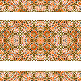Stripped Decorative Seamless Pattern Stock Image