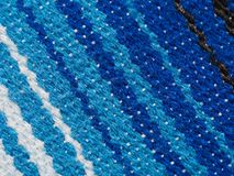 Stripped fabric - Mexican poncho, detail 1 Royalty Free Stock Image