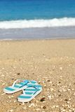 Stripped flip flops Royalty Free Stock Images