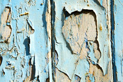 Stripped paint in the blue Stock Photo