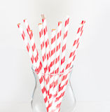 Stripped paper drink straws in glass Stock Image