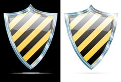 Stripped shields Stock Image
