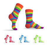 Stripped socks Royalty Free Stock Photography