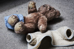Stripped teddy Royalty Free Stock Images