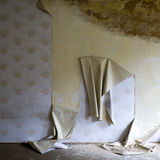 Stripped wallpaper in house Stock Images