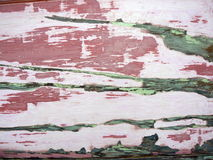 Stripped Wood. Several layers of old paint are being chemically stripped from this wood Royalty Free Stock Photography