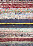 Stripped woven rag rug Stock Photos