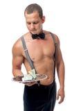 Stripper και μια μεγάλη άκρη, πορτρέτο Στοκ Εικόνες