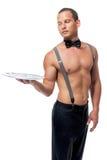 Stripper με έναν γυμνό κορμό Στοκ Εικόνες