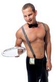 Stripper σερβιτόρων με μια άκρη Στοκ Φωτογραφίες
