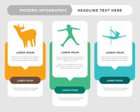 Stripper, ninja warrior, whitetail buck infographic. Stripper business infographic template, the concept is option step with full color icon can be used for Stock Photography