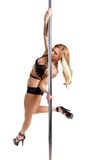 Stripper pole dancing Royalty Free Stock Photography