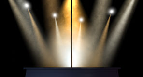 Stripper Pole Spotlit Royalty Free Stock Photos