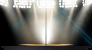 Stripper Pole Spotlit Stock Images