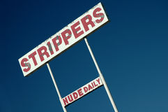 Stripper Sign. A sign in Las Vegas for strippers Royalty Free Stock Photography