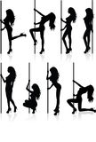 Stripper silhouettes. Stock Images