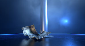 Stripper Tips On Stage Royalty Free Stock Photography