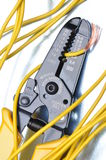 Strippers tool with electrical wires Stock Images