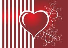 Strippes heart Stock Photos